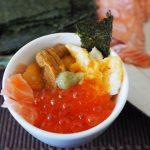 手巻き寿司パーティーのお供に。自宅で簡単に作れる「ミニ海鮮丼」