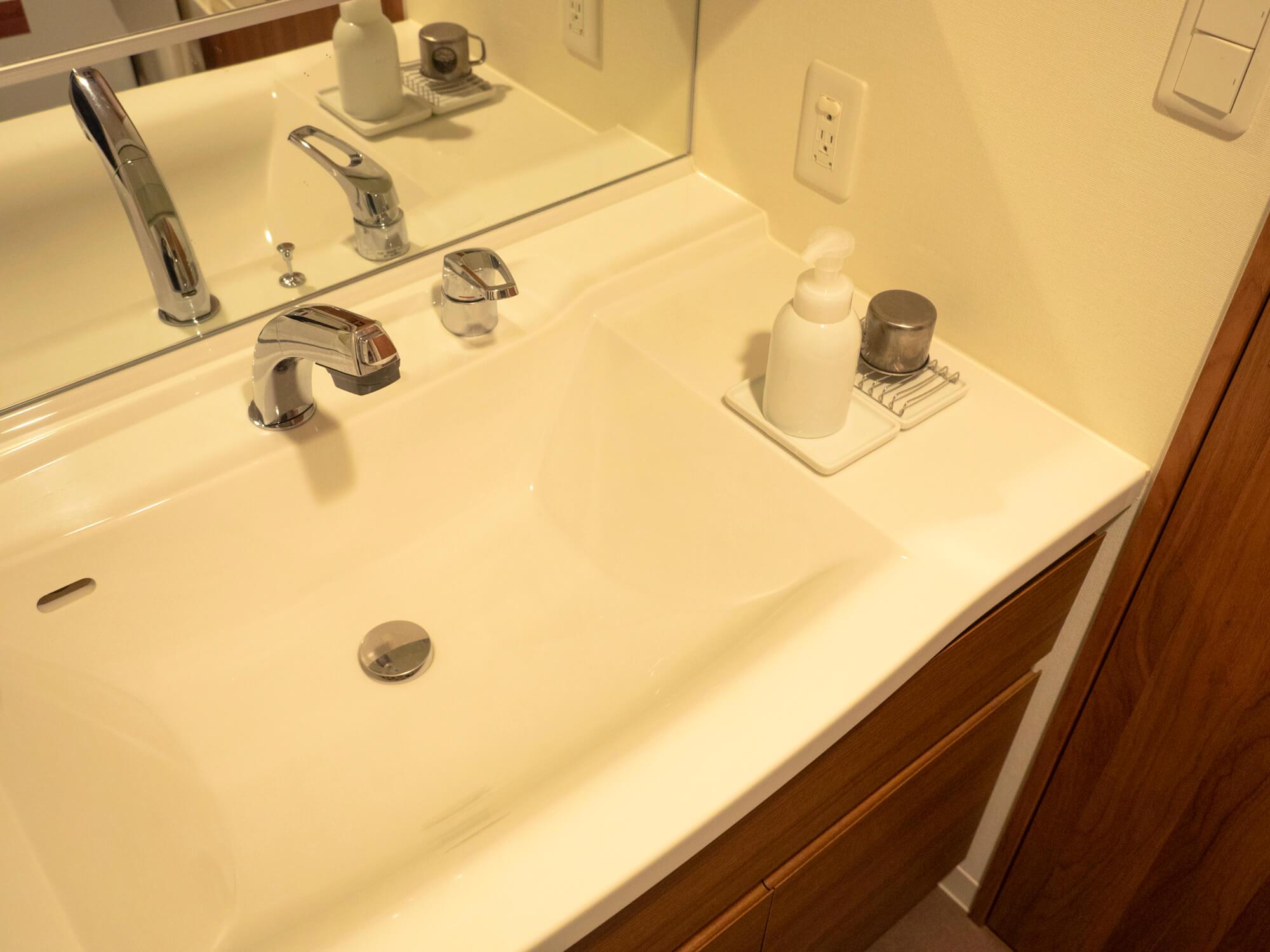スッキリした洗面所