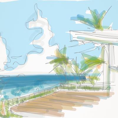 海が見えるマイホームの妄想